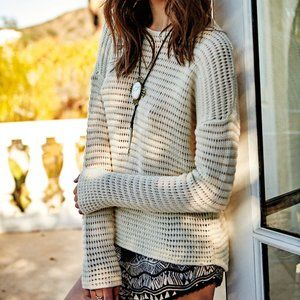 Volcom Hold On Tight Crewneck Sweater in Ivory